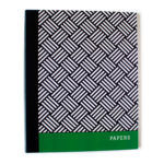 Hashtag Emerald green ring folder for office by The Craftables