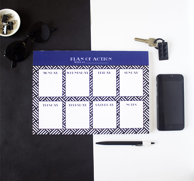 Hashtag Lapis Weekly Planner _ Royal blue monochrome organizer _ Gifts for boss by The Craftables