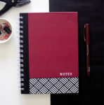 Hashtag Ruby Notebook _ Spiralbinding notebooks with hard cover _ office design by The Craftables