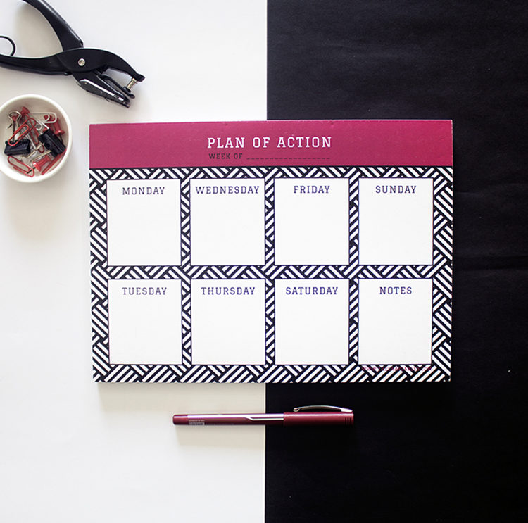 Hashtag Ruby Weekly Planner _ Bespoke office stationery for team by The Craftables