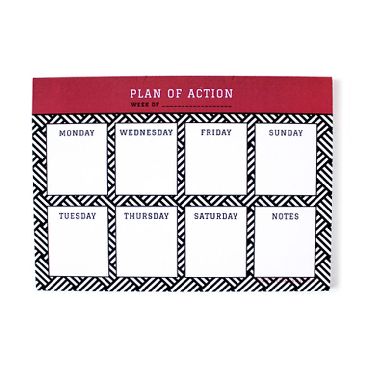 Hashtag Ruby Weekly Planner and organisers by The Craftables