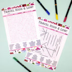 Jetsetter Bubblegum | Word search printable game | travel theme | The Craftables