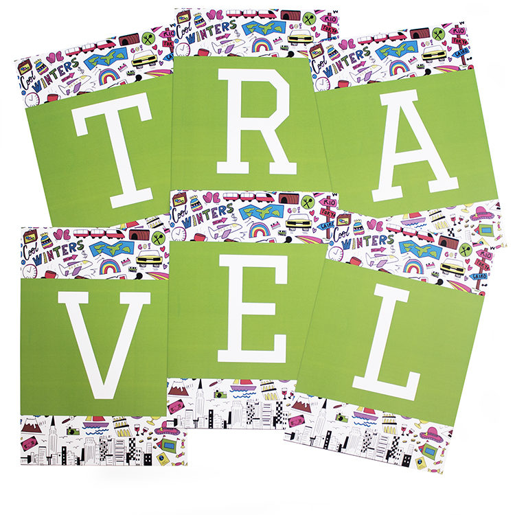 Jetsetter Pear Travel running game | Scramble word game | The Craftables | 12 player game