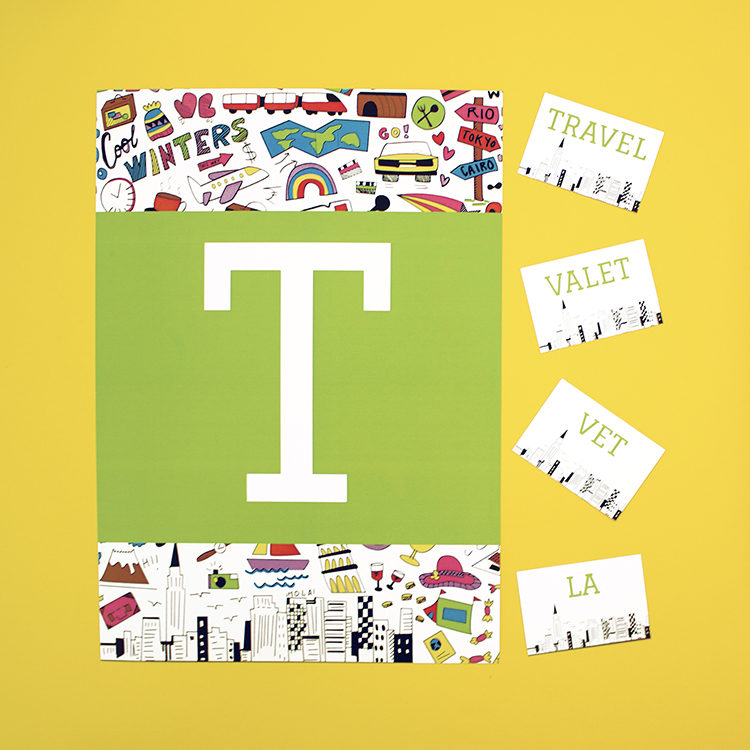 Jetsetter Pear scramble word game | birthday party activity for kids of all ages | The Craftables