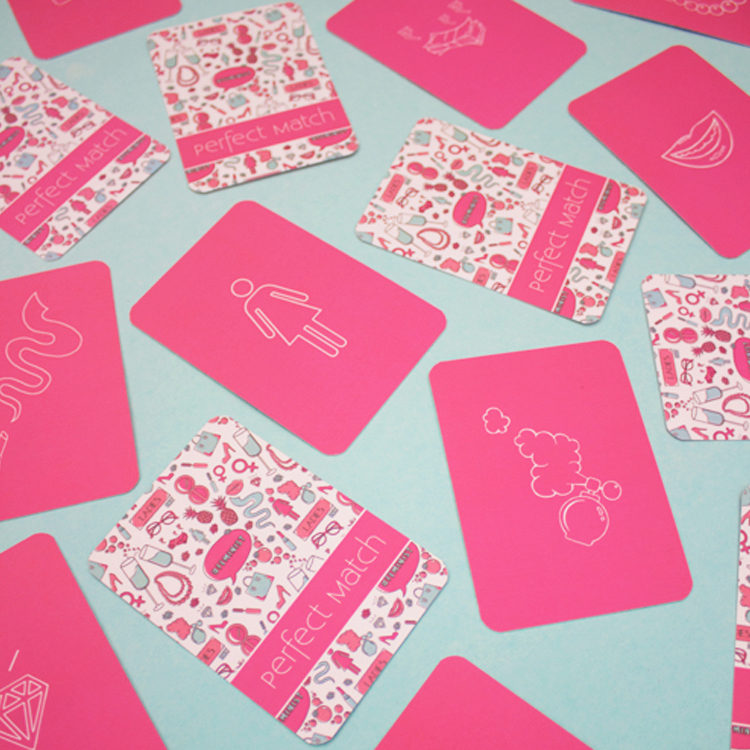 Ladylike Brunch Matching Cards | creative match cards | fun card games | The Craftables