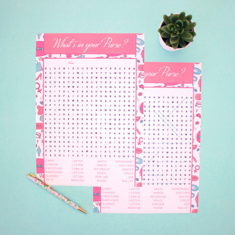 Ladylike Brunch Word Search | word search puzzles printablehidden word puzzles | The Craftables