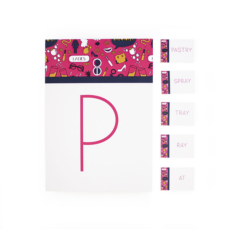 Ladylike Fiesta | Puzzle scramble word games for ladies | lunch party game ideas | paper games online | The Craftables