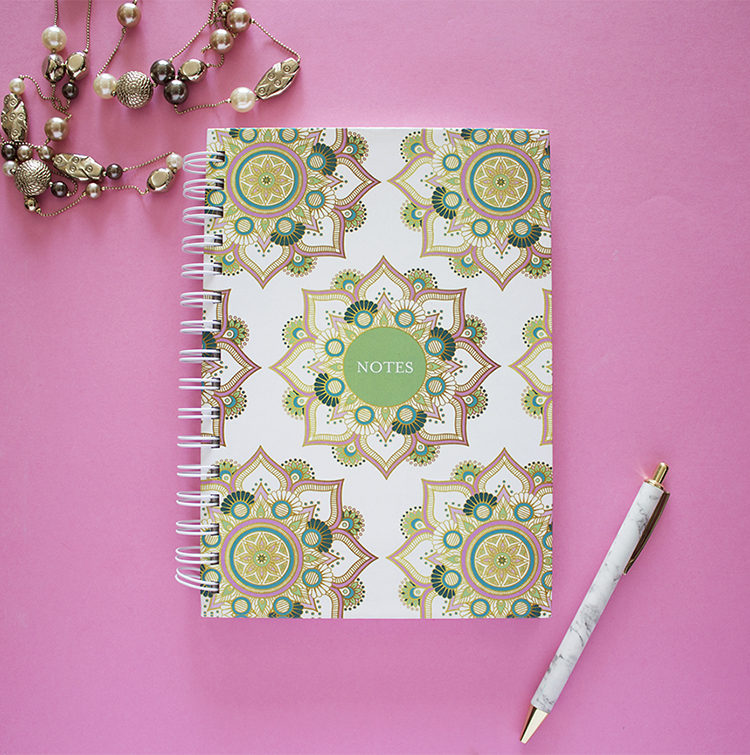 Mandala Notebook _ Personalised Diary by The Craftables