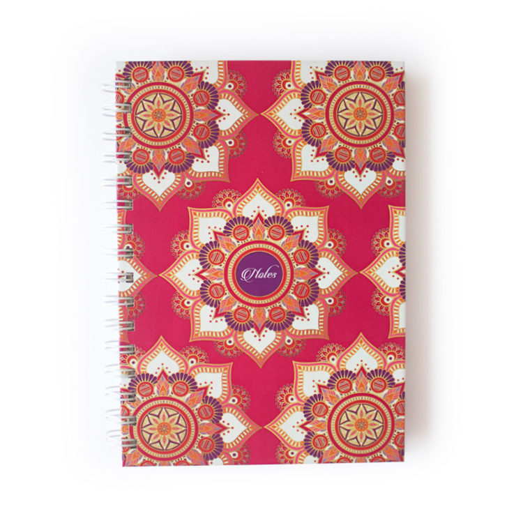 Mandala Notebook in pink and gold _ Indian Wedding Stationery Sets Mandala Wedding Stationery _ Ring Binders, Folders, Planners by The Craftables