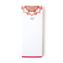 Mandala Pink Bookmark Listpad _ Personalised wedding stationery Mandala Wedding Stationery _ Ring Binders, Folders, Planners by The Craftables