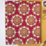 Mandala Ring Folder _ Fuschia _ Wedding Stationery by The Craftables