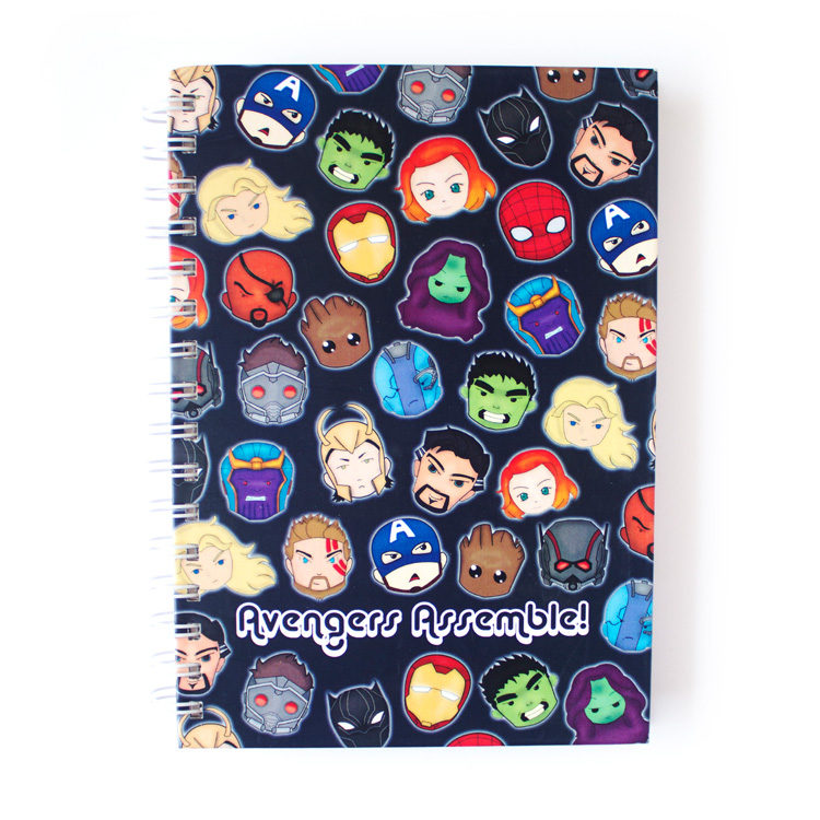 Marvellous Avengers Notebook _ Buy Spiralbound Notebook online Marvellous Avengers listpads and to do lists by The Craftables