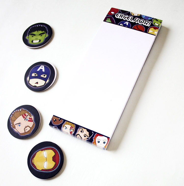 Marvellous Bookmark Listpad _ Excelsior _ Personalised Avengers stationery Marvellous Avengers listpads and to do lists by The Craftables