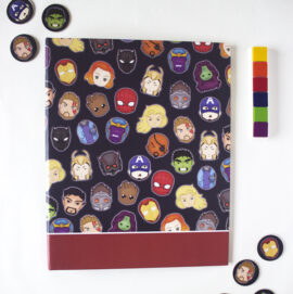 Marvellous Ring Folder _ Avengers themed doodled Binders _ Customised supehero stationery _ Thor, Captain Ameria, Hulk, Iron Man
