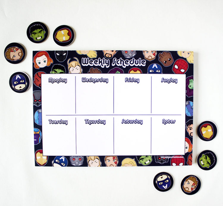 Marvellous Weekly Planner _ Avengers Organizers _ Stationery for Marvel fans Marvellous To Do List _ Avengers themed Listpad _ Thor, Captain Ameria, Hulk, Iron Man