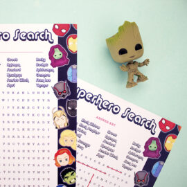 Marvellous Word Search | Printable games for boys | Avengers Marvel theme | The Craftables