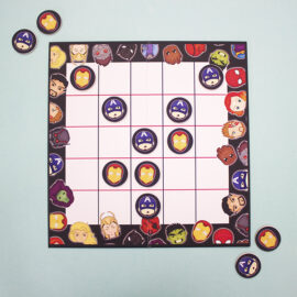 Marvellous knots and crosses | personalised tic tac toe | high quality board games | The Craftables