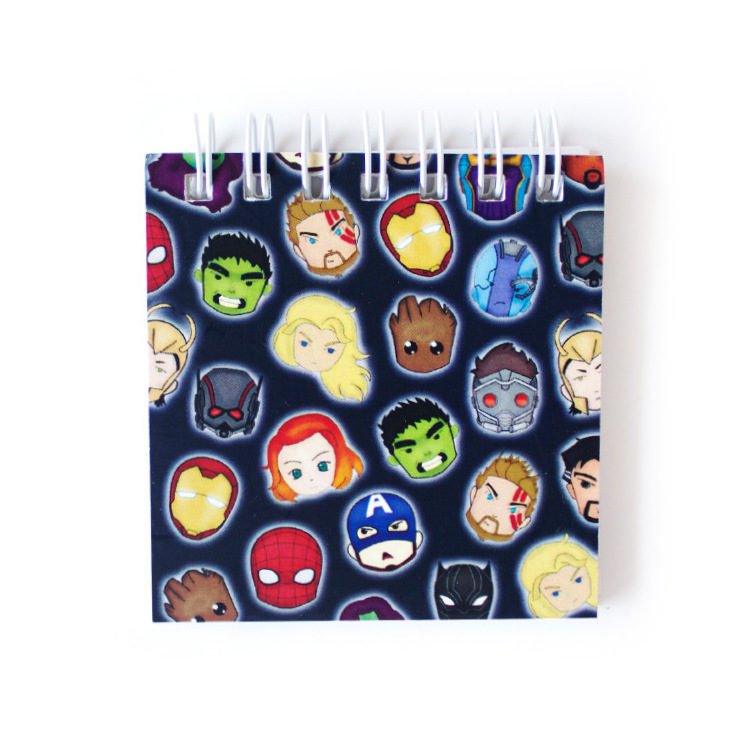 Marvellous personalised excelsior notebook _ doodled noteboks Marvellous Avengers listpads and to do lists by The Craftables