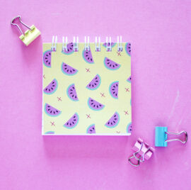 Melon Fresh Mini Notepad _ Customised Listpads by The Craftables