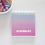 Ombre Dreamy Mini Notepad _ Mini Notebook cover _ Personalised Stationery by The Craftables