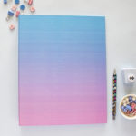 Ombre Dreamy Ring Folder _ Home Organization Binders by The Craftables