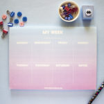 Ombre Dreamy Weekly Planner _ Personalised Organizers by The Craftables