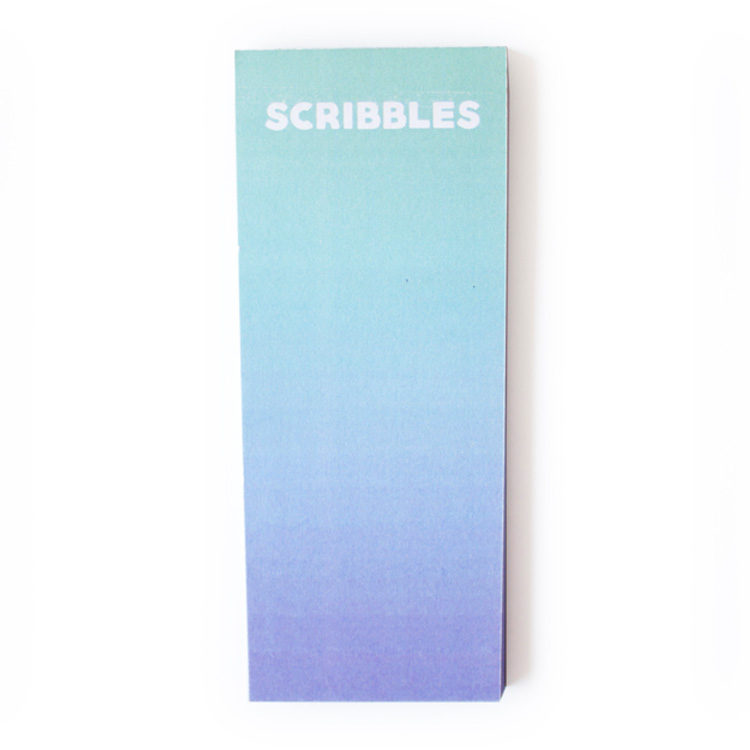 Ombre Ocean Bookmark Listpad _ Personalised Stationery by The Craftables