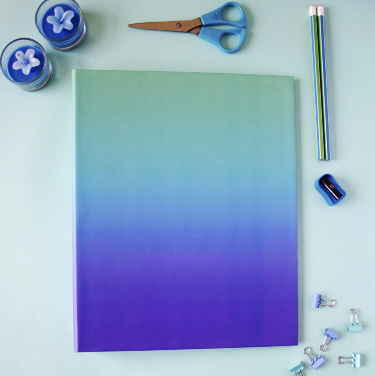 Ombre Ocean Ring Folder _ Personalised folders for home by The Craftables