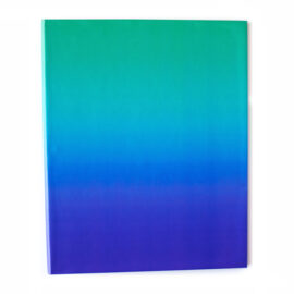 Ombre Ocean Shaded Ring Folder _ Personalised Binders for papers by The Craftables