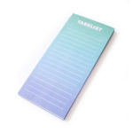 Ombre Ocean magnetic to do list for fridge _ Personalised stationery by The Craftables