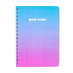 Ombre Personalised Work Buddy Notebook by The Craftables