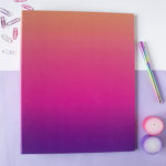 Ombre Sundowner Ring Binder _ Folders for paperwork _ Organization by The Craftables