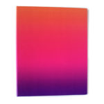 Ombre Sundowner Ring Folder _ Colourful Rainbow stationery binders by The Craftables
