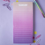 Ombre Sundowner Tasklist _ On the Agenda To Do List _ Customised listpads by The Craftables