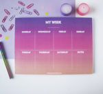 Ombre Sundowner Weekly Planner _ 7 Day organizers by The Craftables