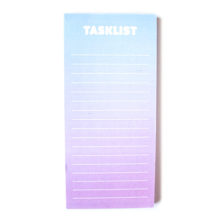Ombre To Do List _ Magnetic Listpads in shaded dreamy colours by The Craftables