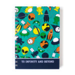Space ranger Notebook for kids   Alien Spaceship design   Custom notebooks by The Craftables