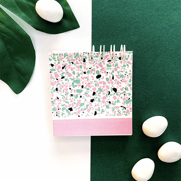 Terrazzo Flamingo Mini Notepad | Customised Listpads and notebooks by The Craftables