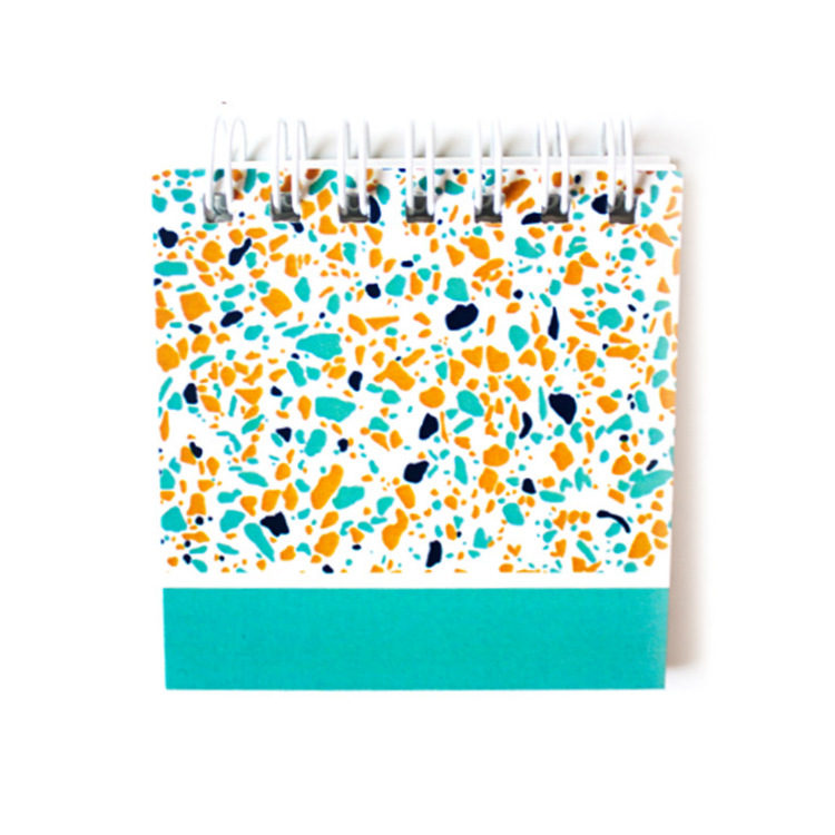Terrazzo Mini in Parakeet | Teal and yellow notepads by The Craftables
