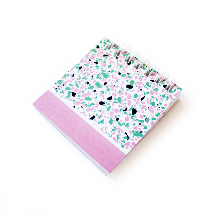 Terrazzo Mini in pink and green | Pastel colour stationery by The Craftables
