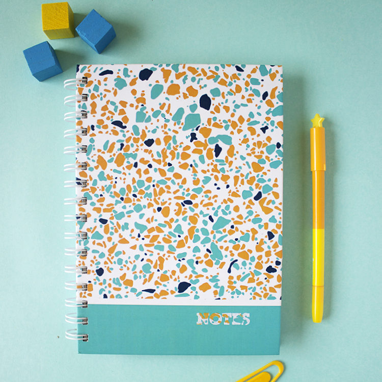 Terrazzo Notebook | Personalised journals, notebooks, diaries and notepads by The Craftables