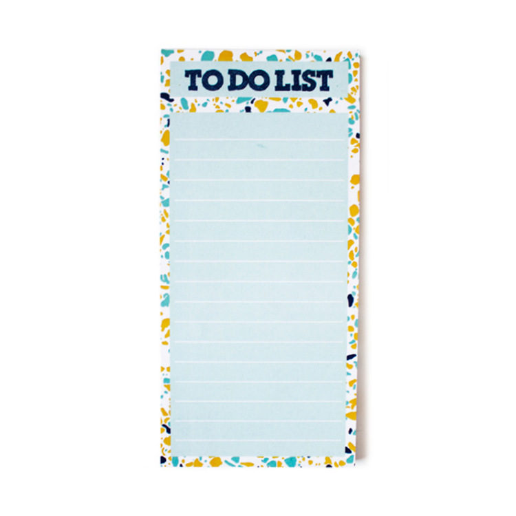 Terrazzo Parakeet To Do List | Magnetic Notepads by The Craftables