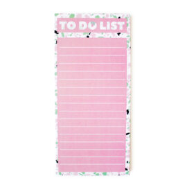 Terrazzo Pink and Green To Do List | Magnetic Taskslist by The Craftables