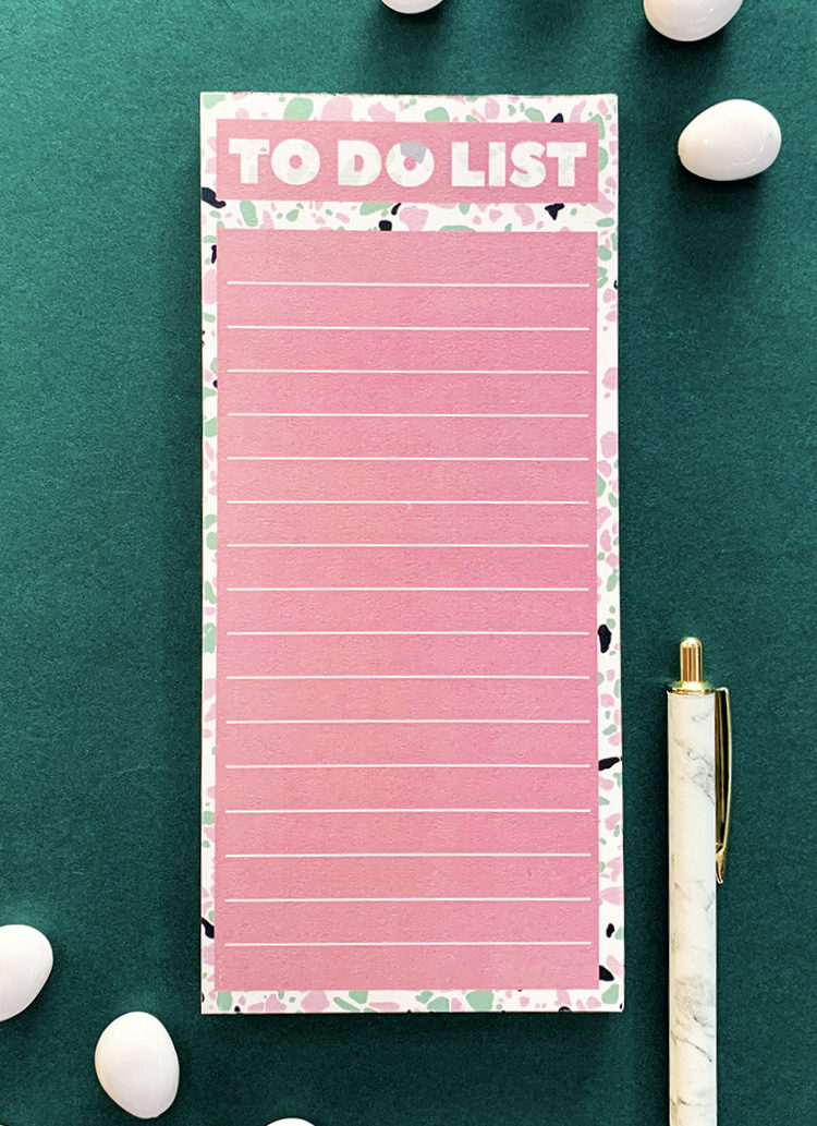 Terrazzo To Do List   Magnetic notepads   Persoanlised prints by The Craftables