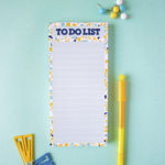 Terrazzo Yellow and teal magnetic to do lists | customised tasklists and stationery for gifting by The Craftables