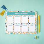 Terrazzo weekly planners | monthly, daily and yearly organizers by The Craftables