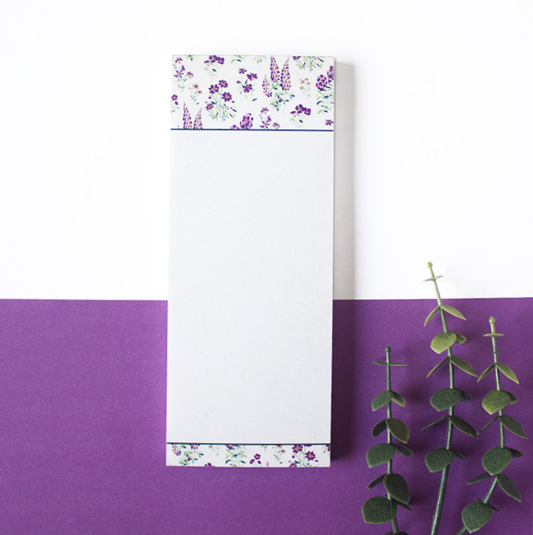Wallflower Lavender Bookmark Listpad | DIY Stationery Notepads by The Craftables