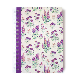 Wallflower Lavender Notebook | Personalised Notebooks by The Craftables