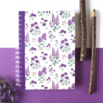 Wallflower Lavender Spiralbound Notebook | Customised Notebook by The Craftables