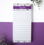 Wallflower Lavender To Do List | Magnetic To Do Lists by The Craftables